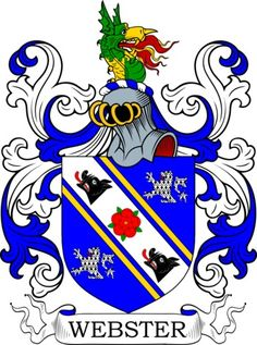 Webster Family Crest and Coat of Arms