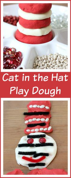 Cat in the Hat Activities with Play Dough - sensory, math, and literacy fun!