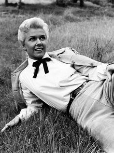 "maureensohara-deactivated201508: "" Doris Day on the set of Calamity Jane, 1953. """