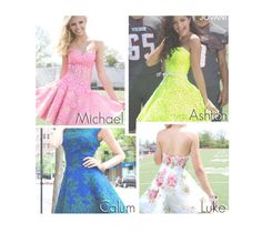"""""""5sos- Homecoming Dress."""" by reydel ❤ liked on Polyvore featuring 5sos, Homecoming, 5secondsofsummer and 5sospreference"""