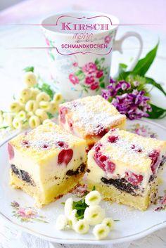 Kirschmohnkuchen mit Schmandguss