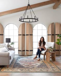 Login - Best Rugs - Ideas of Best Rugs - Ever since Joanna Cox-Gaines posted a sneak peek of the Evie rug back in April its been our most anticipated Magnolia collection of At Magnolia Home Rugs, Magnolia Homes, Spanish Style Homes, Spanish House, Tuscan Decorating, French Country Decorating, Interior Design Living Room, Living Room Designs, Joanna Gaines Rugs