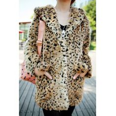 Very cute & cuddly: Leopard Print Hooded Fur Fashionable Style Long Sleeves Coat For Women - http://www.sammydress.com/product880882.html#lkid=219920