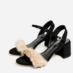 Image 5 of FAUX FUR VAMP SANDALS from Zara
