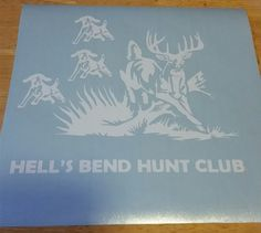 Custom vinyl decals and more at our Etsy Shop!  https://www.etsy.com/listing/266771054/custom-deer-and-hound-dog-hunting-vinyl