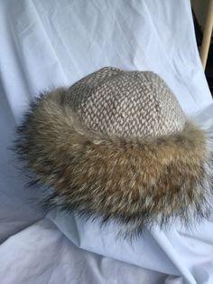 Amazing Norse, Mongolian, Russian, cossack, Viking, fur hat, handwoven wool, coyote fur