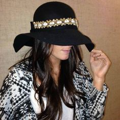Bling up a plain hat with a Luxe Headband from Deepa Gurnani