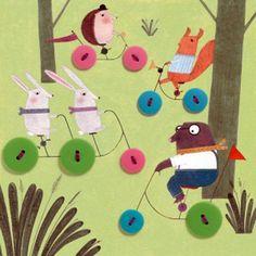 Набор с пуговицами «Приключение в лесу»