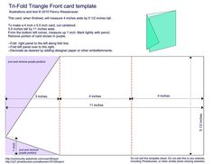 "Tri-fold Triangle-Front Card Template - 4"" x 5-1/2"" finished"