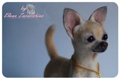 Needle felted Dog /Chihuahua /Collectible Dog by Felteddoggie