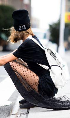 Urban Goddess // NYC Street Style: Alena Vezza in Soho, Manhattan at New York Fashion Week Spring/ Summer 2015