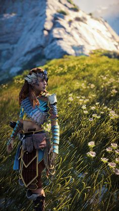 Horizon Zero Dawn Aloy, God Of War, Skyrim, Video Games, Character Design, Cosplay, Collection, Images, Gaming