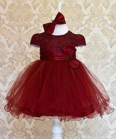Take a look at this Burgundy 1950s Dress + Headband by Lindissima on #zulily today!