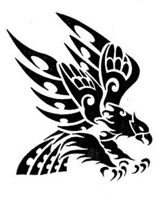 Tribal Tattoos, Tribal Eagle Tattoo, Tribal Wolf, Eagle Tattoos, Tribal Art, Body Art Tattoos, Tattoos Skull, Stencil Patterns, Stencil Art