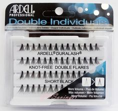 Ardell Duralash Knot-Free DOUBLE Flares SHORT Natural Individual Flairs Black