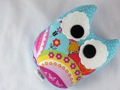 Plush Owl Softie Baby Toy Small Owl Pillow by LittleSidekick