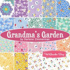 Grandma's Garden Fat Quarter Bundle Darlene Zimmerman for Robert Kaufman Fabrics - Fat Quarter Shop