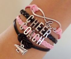 Infinity love Bracelet Cheer Coach Bracelet by SummerWishes