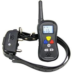 Best Dog Training Collar with Remote  330 Yards  3 Training Modes  Vibration Shock Tone  Backlit LCD Display  16 Adjustable Intensity Levels  HappyNoBark *** Check this awesome product by going to the link at the image.
