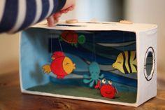 Tolle Bastelidee: selbstgemachtes Aquarium & Spielzeug. #DIY