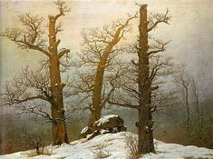 """Winter Light"" - Caspar David Friedrich"
