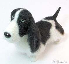 felted dog with character