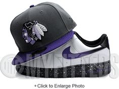 Chicago Blackhawks Carbon Graphite Grey Dark Concord Black Hyacinth New Era Fitted Hat UP NOW ON MYFITTEDS.COM