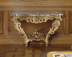 Console Table circa 1730 on display in the Dining Room