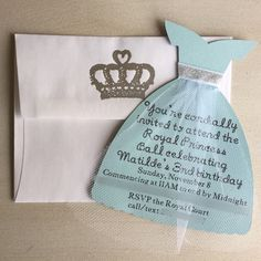 Gah. I just love making these invites. To have a piece of paper turn into a beautiful Cinderella dress is such a magical experience.