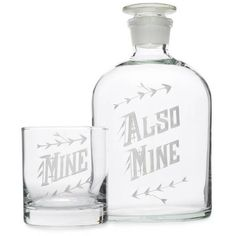 Love & Victory Mine Decanter Set Clear By found on Polyvore featuring home, kitchen & dining, bar tools, barware, whiskey decanter, whisky decanter set, whiskey decanter set and whisky decanter