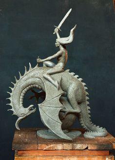 Lion Sculpture, Fantasy, Statue, Animals, Art, Dragons, Art Background, Animales, Animaux