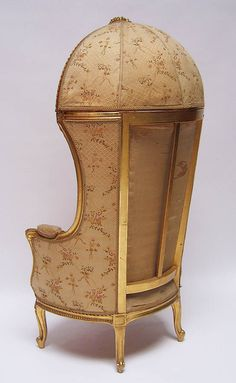 French Hooded Chair | French 19th/20th Century Louis XV Style Gildwood Carved Canopy-Hooded ...