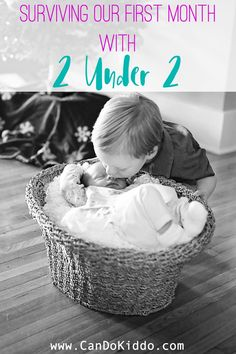 Surviving our first month with two kids under 2. www.candokiddo.com