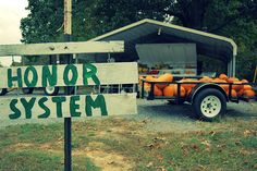 honor system road side stands-  Selling the old fashioned way by having faith in your fellow man. #lulusrocktheroad
