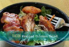 Mouth Watering Yet? Delicious Bacon Wrapped Chicken Salad!