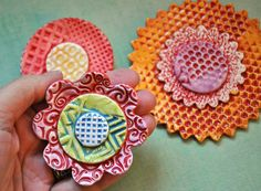 Wall Flowers - multi-colored ceramic flowers