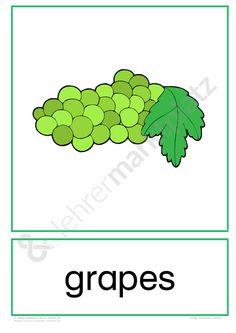 Name Activities, Preschool Games, Free Preschool, Preschool Worksheets, English Fun, English Words, Funny Fruit, Free Fruit, Clipart