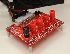 ATX Breakout Board - recycle an ATX computer power supply into a bench tool for powering projects