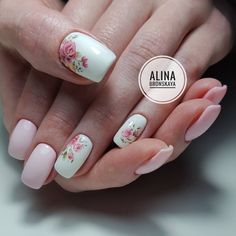 99 Charming Summer Floral Nail Art Ideas To Copy Now Simple Nail Art Designs, Short Nail Designs, Beautiful Nail Designs, Easy Nail Art, Spring Nail Art, Spring Nails, Nail Summer, Nagel Piercing, Design Ongles Courts