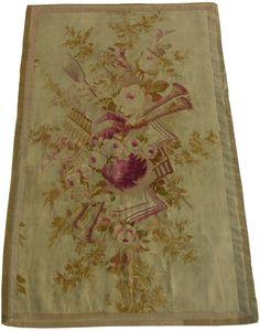 Antique Decorative French Aubusson Carpet