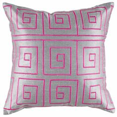 Troy Pillow in Silver from the Greek Key event at Joss and Main!