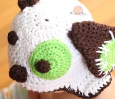Crochet Baby Hat Beanie Puppy Dog - Any Size - made to order. $23.00, via Etsy.  By Anna Dusek #crochethat #annadusek