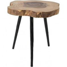 Dutchbone table basse d'appoint bois et métal Clay table basse