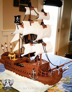 black pearl pirate ship cake by ArtisanCakeCompany, via Flickr
