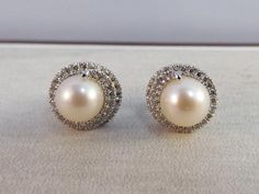Pearl and Diamond Stud Earrings | Popular Items from Your Personal Jeweler of Lake Norman | Cornelius, NC