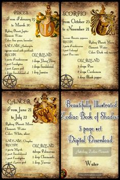 Wicca The Element Fire -Zodiac Correspondences - Book of Shadows 3 prints Witchcraft Books, Magick Spells, Wiccan Books, Religion Wicca, Wiccan Rituals, Chaos Magic, Pisces And Scorpio, Wiccan Symbols, Fire Book