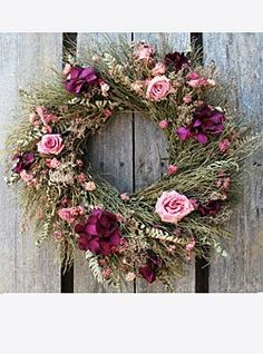 This Rustic Rose Wreath is always hanging on my door greeting me with it's beauty and exquisite aroma!