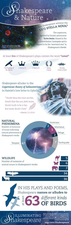 shakespeare and the supernatural infographic infographic  infographic explains how nature influenced shakespeare