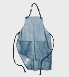 Recycled Beer Filter Cloth Apron, Sea Colors $118