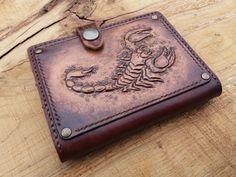 Leather Carving, Leather Tooling, Leather Wallet, Leather Book Covers, Leather Books, Fathers Day Gifts, Gifts For Dad, Gifts For Women, Leather Gifts